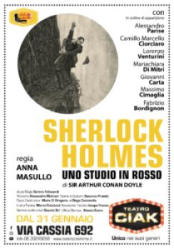 Il Teatro Ciak di Roma Sherlock Holmes - Uno studio in rosso