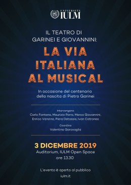 La via italiana al musical