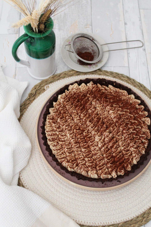 Crostata senza cottura ciocco-caffè