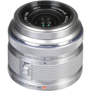 Olympus M.Zuiko Digital 14-42mm f3.5-5.6 II R Lens Silver (ประกันศูนย์)