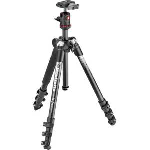Manfrotto BeFree Color Aluminum Travel Tripod (Gray) 1