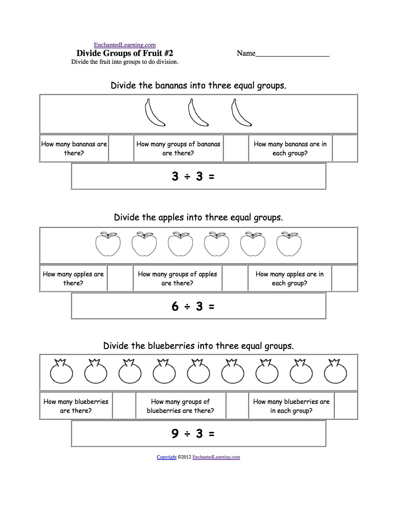 Fruits And Vegetables Math Worksheets