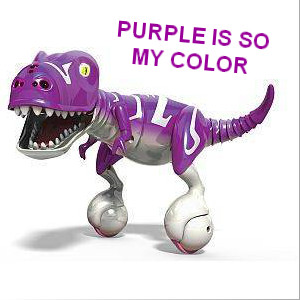Zoomer robot dog purple