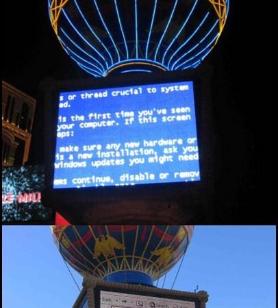 Il Blue Screen of Death colpisce Las Vegas