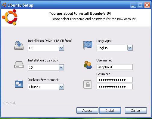 Ubuntu 8.04 Alpha 5: Wubi
