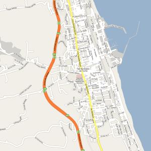 Cartina geografica di San Benedetto del Tronto piantina san benedetto del tronto marche mare riviera