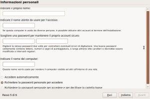 informazioni personali ubuntu 9.10