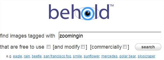 Behold: motore di ricerca immagini di alta qualità su Flickr