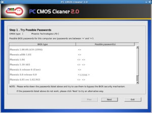 PC CMOS Cleaner rimuovere password bios