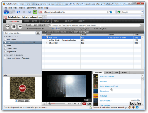 TubeRadio.fm: mp3 Player Online gratis