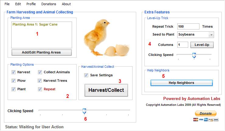 Occuparsi di Farmville Automaticamente con Farming Extreme Manager