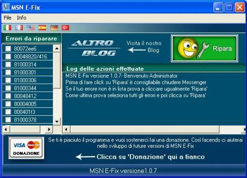Ripariamo gli errori di MSN e Windows Live Messenger con MSN E-FIX