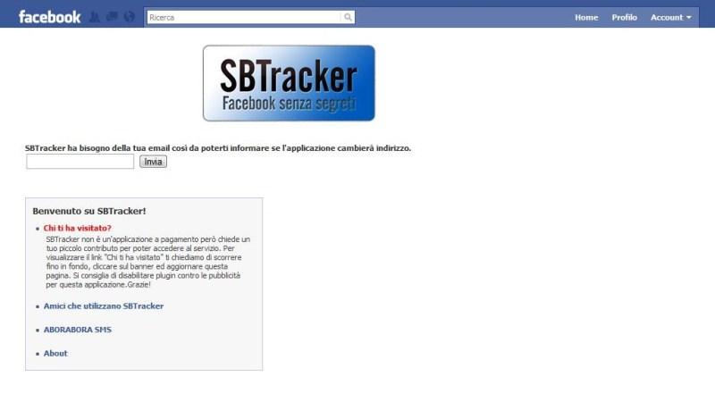"""Falso su Facebook: """"SBTracker"""", Scopri Chi ti ha Visitato"""
