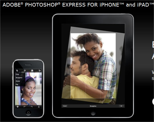 Adobe Photoshop Express per iPhone, iPad e Android Gratis!