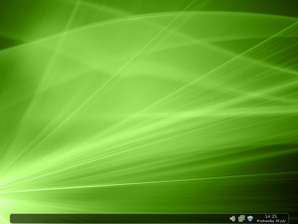 schermata desktop di Linux Mint 9 FluxBox con Tint2