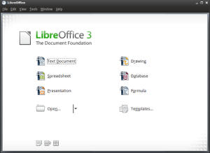 libreoffice schermata iniziale