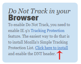 Do Not Track – privacy sul web