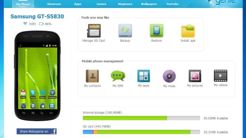 Mobogenie: Gestire il tuo Smartphone Android dal PC