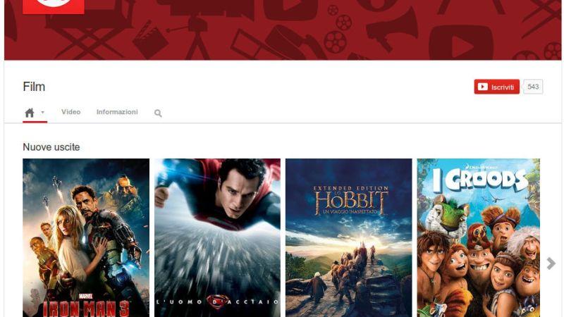 YouTube Movies, il Canale Dove Vedere e Acquistare Film Arriva in Italia