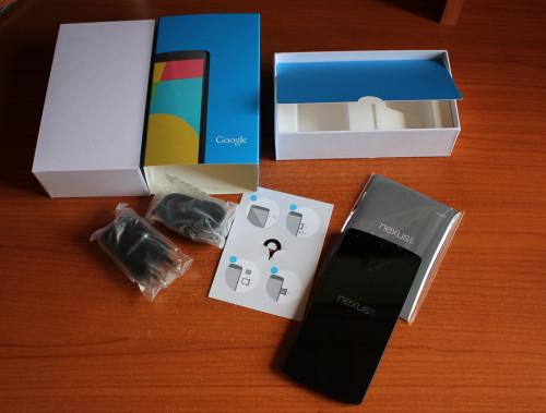contenuto scatola nexus 5