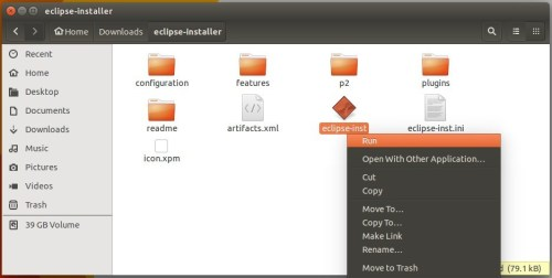 start eclipse installer