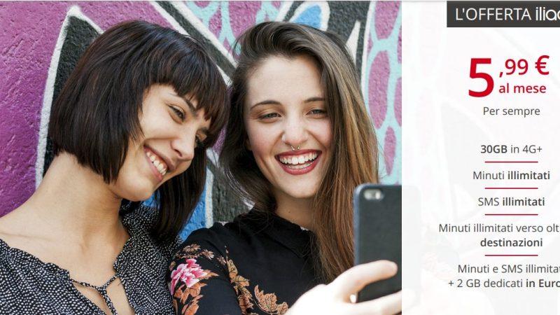 Iliad arriva in Italia: 30GB in 4G+, Minuti ed SMS Illimitati a 5,99€