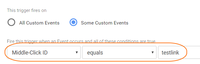 Image 2.4: Activating trigger for only certain links