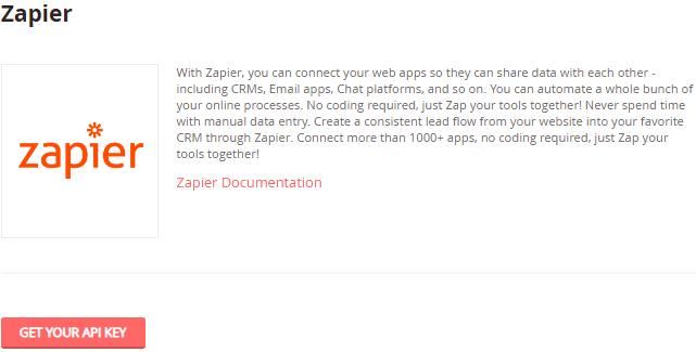 Image 1h.b. Zapier API Key