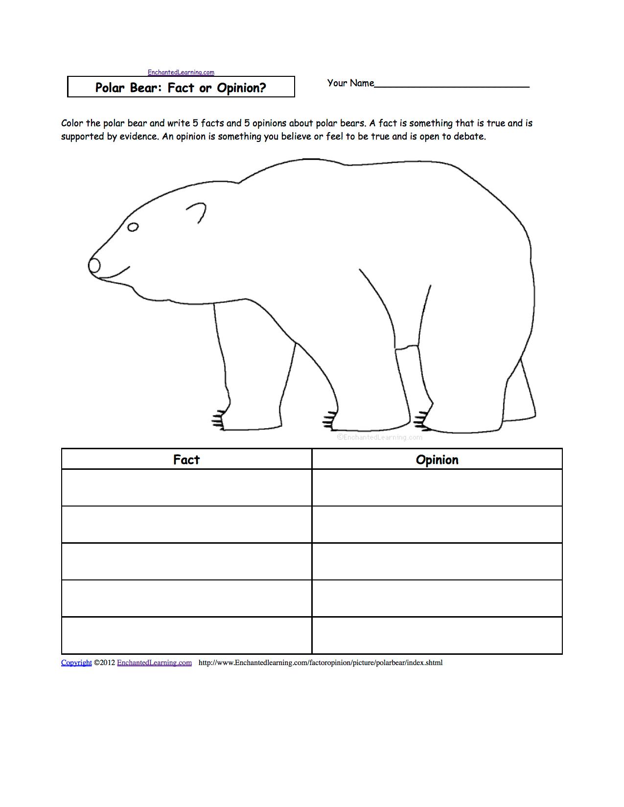 Bears At Enchantedlearning