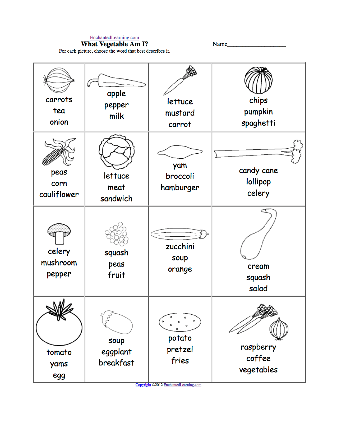 Nutrition Worksheet Grade 2
