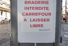 Braderie de Lille : Carrefour à laisser libre