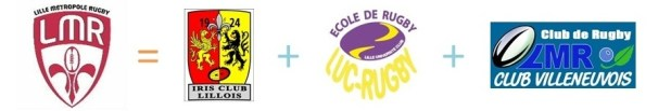 Copyright : DR / Logo LMR - Iris Club Lillois - Luc Rugby - LMR Club Villeneuvois