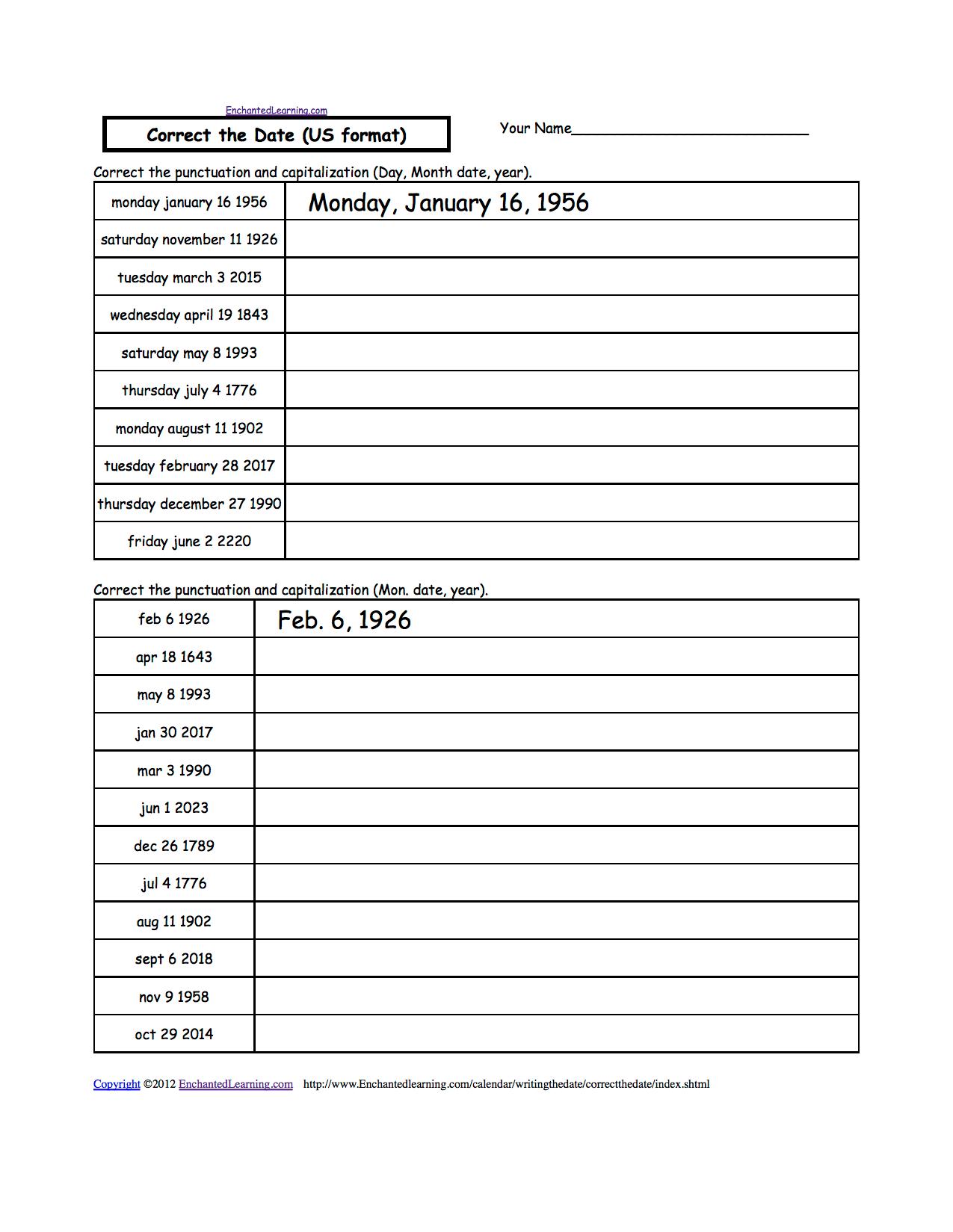 Worksheet On Quotation Marks