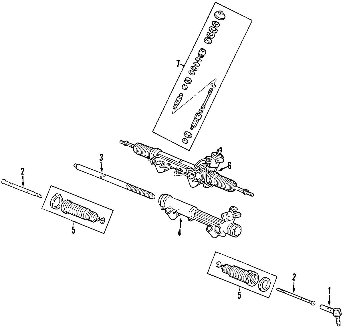 Mazda B Rack And Pinion Assembly