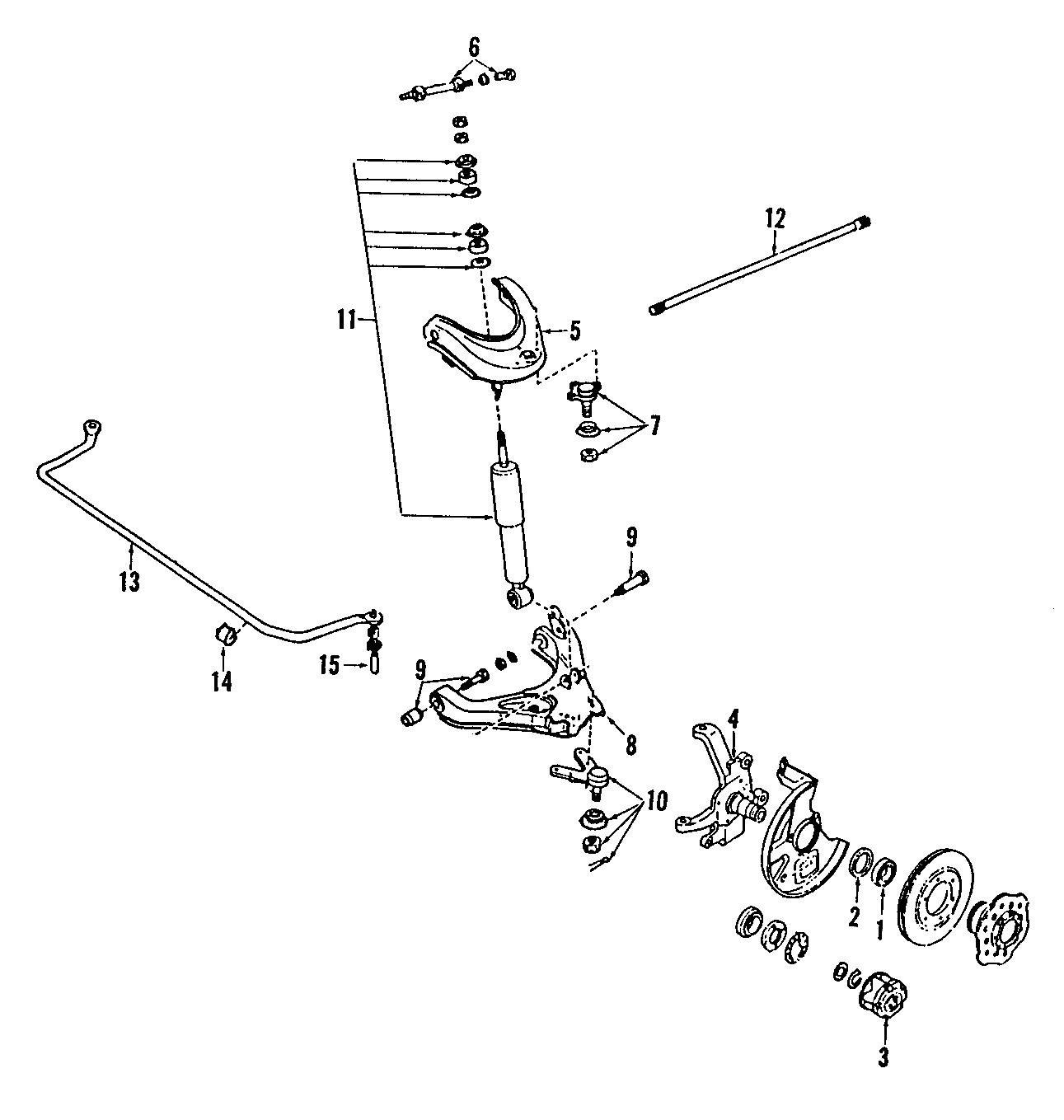 Mazda B Suspension Control Arm Lower Left Causing