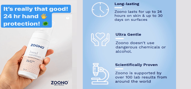 ZOONO hand sanitising products