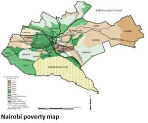 Nairobi Poverty Map small