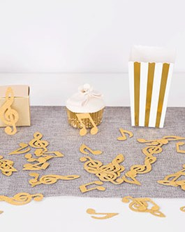 Gold Glitter Music Note Paper Confetti Table Confetti for Music Themed Events Pack of 100