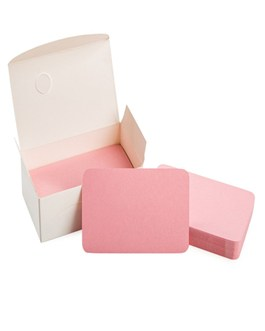 Blank Pink Cardboard paper Message Card Business Cards Word Card DIY Tag Gift Card 100 PCS (Pink)