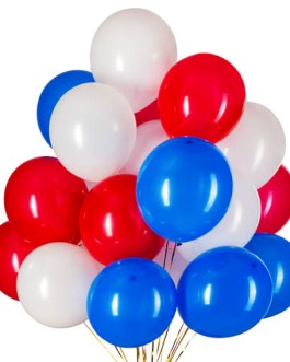 12Inch Red Blue White Patriotic Latex Balloons-100Pcs, Great for Patriotic Party Balloons,Birthday,Graduation,Patriotic Anniversary,Holidays,4th July Party Decorations