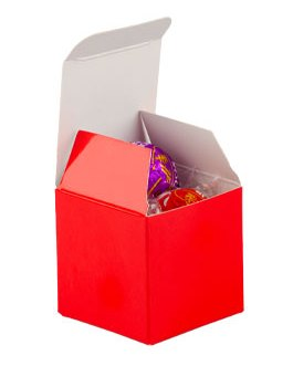 Red Candy Boxes 2 x 2 x 2 Inch Small Mini Square Paper Boxes