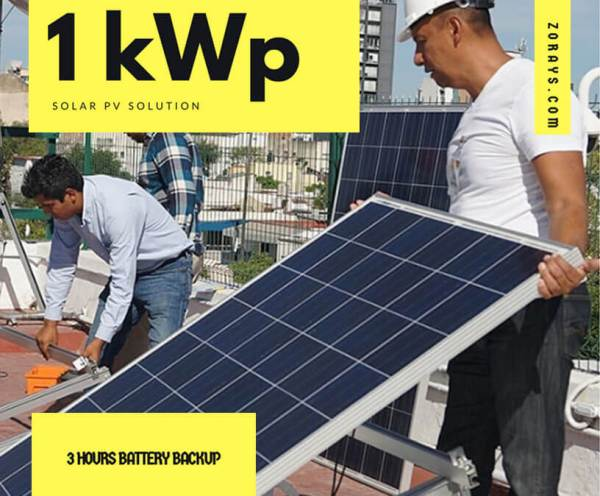 1kWp-PV-Solar-Solution-3-Hours-Battery-Backup