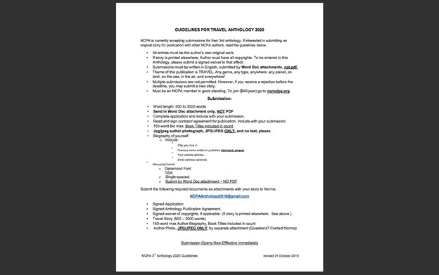 guidelines for submissions