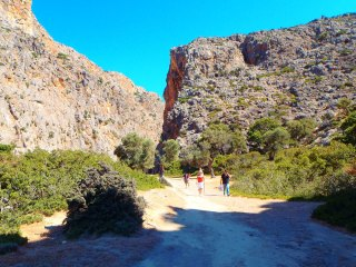 Hiking routes in Crete and walking winter time