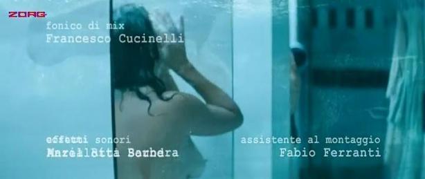 Valeria Golino nude topless shower - Giulia non esce la sera (2009)
