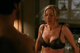 Elizabeth Mitchell hot sexy stripping to bra and making out – V s02e08 hd720p