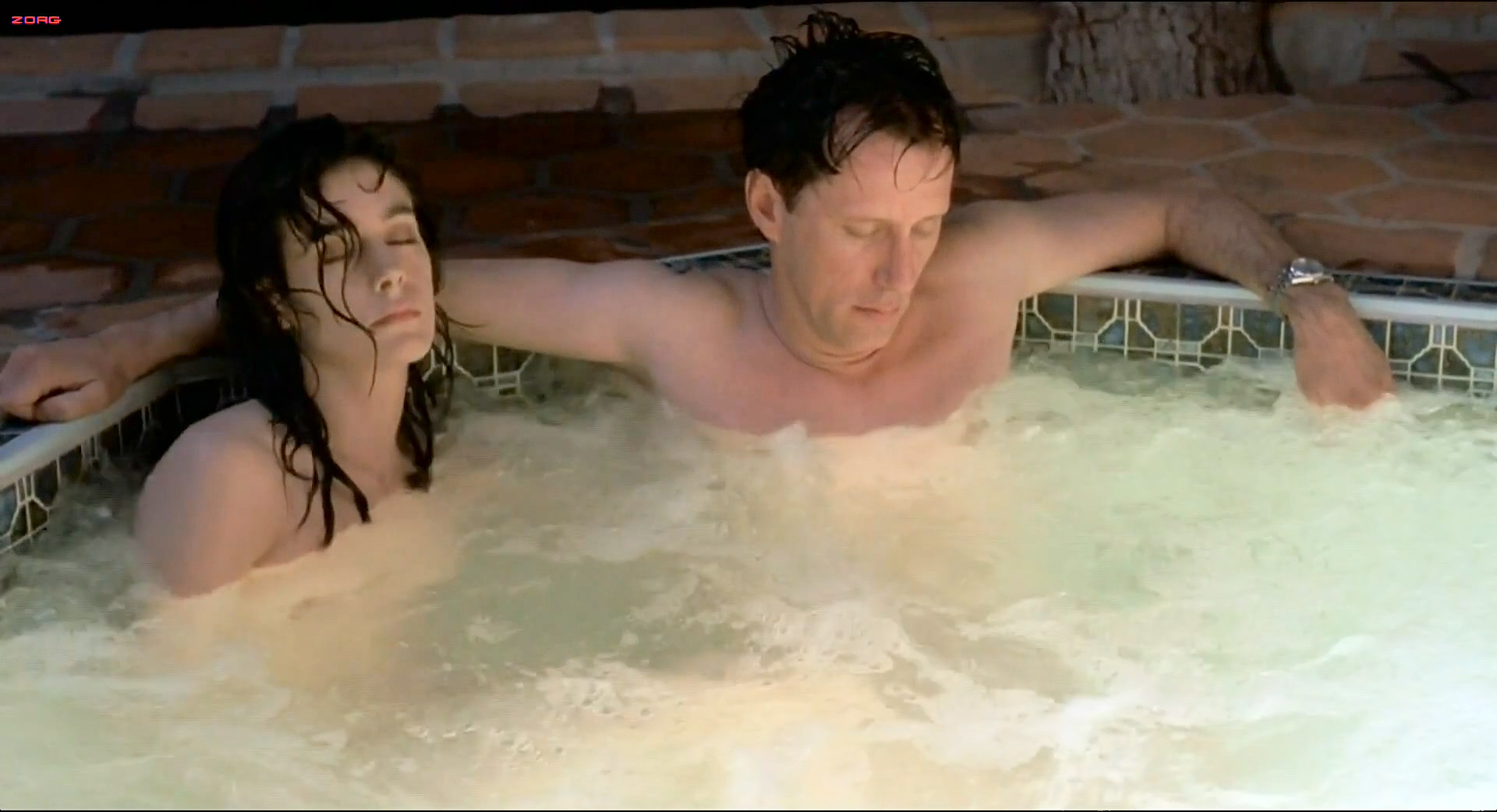 Skinny dipping pool sex