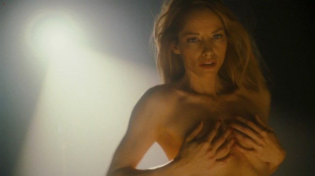 "Sienna Guillory sexy dance cool butt and topless covered from ""The Big Bang"" (2011) hd1080p"