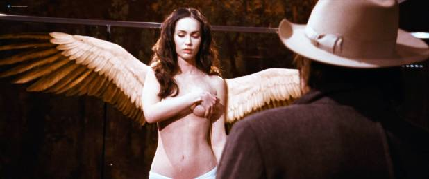 Megan Fox naked but covered and Alexandra Ruddy naked topless - Passion Play (2010) HD 1080p (2)