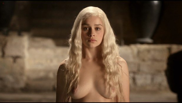 Emilia Clarke topless and butt naked in Game of Thrones s01e01 hdtv1080p